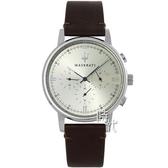 【台南 時代鐘錶 MASERATI】台灣公司貨 瑪莎拉蒂 Eleganza系列 R8871630001 三眼計時手錶