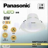 好商量~ Panasonic 國際牌 8W LED 9.5cm 崁燈 厚崁