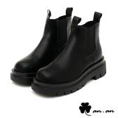 短靴 率性俐落厚底切爾西短靴(黑)* an.an【18-C307-5bk】【現+預】