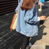 牛仔外套女裝新款潮寬鬆學生韓版bf風薄款上衣短外套  朵拉朵衣櫥