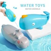河馬鯨魚噴水戲水洗澡玩具 玩具 戲水玩具 噴水玩具