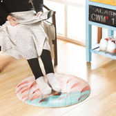 ♚MY COLOR♚圓形法蘭絨印花地墊 浴室 簡約 加厚 防滑墊 臥室 門口墊 腳墊 【P61】