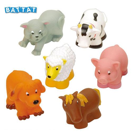 【奇買親子購物網】美國B.Toys 洗澡玩具組-農場