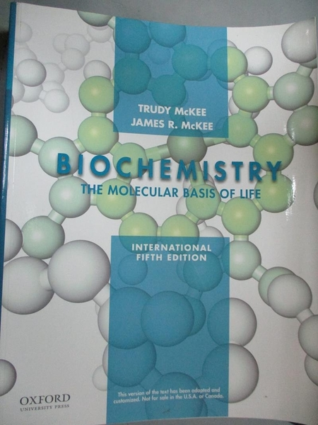 【書寶二手書T9/大學理工醫_YKI】Biochemistry : the molecular basis of lif