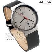 ALBA雅柏錶 極簡紳士 都會風格 防水錶 藍寶石水晶玻璃 真皮 霧灰 男錶 AS9H45X1 VJ42-X269Z