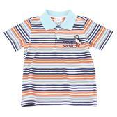 【愛的世界】橫紋短袖POLO衫/2~3歲-台灣製- ★春夏上著