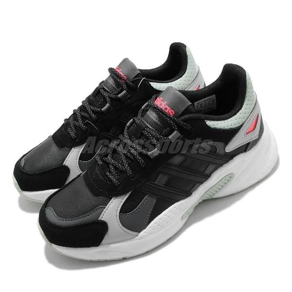 adidas 休閒鞋 Crazychaos Shadow 黑 綠 女鞋 復古 運動鞋 【ACS】 FX8891