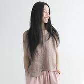 無袖T恤-純棉圓領休閒百搭不規則短版女上衣2色73nl10【巴黎精品】