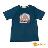 wildland荒野 男 圓領印花棉感抗UV上衣『深藍』0A51610 台灣製造 排汗透氣圓領T恤 T-shirt 短袖運動服