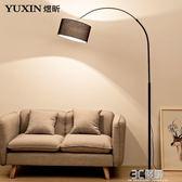 釣魚燈落地燈客廳沙發北歐簡約現代創意書房遙控立式台燈臥室床頭igo 3c優購