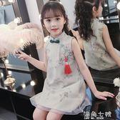 童裝網紅店國民風女童裝古風漢服超仙公主裙仙女洋氣裙子女孩 海角七號