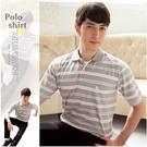 【大盤大】(P63671) 零碼出清 M號 男 薄款POLO衫 口袋 短袖條紋上衣 夏 休閒打底衫 88節禮物