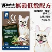 *KING*魏大夫VF《犬糧-無穀低敏配方(白身魚肉+鴨肉+ 鷹嘴豆)》7kg/包