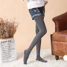 100D高腰加檔條紋仿棉紗微壓顯瘦美腿褲襪絲襪(藍麻灰)