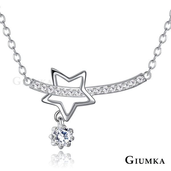GIUMKA鎖骨鍊流星925銀星星女短鏈S925銀飾品牌MNS06004