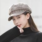 貝雷帽 時尚帽子女新款百搭冬季八角帽圓臉秋冬保暖貝雷帽網紅韓版英倫風