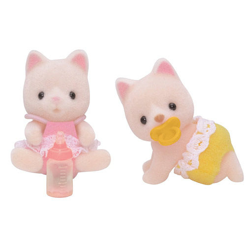 《 森林家族 - 日版 》牛奶貓雙胞胎  /  JOYBUS玩具百貨