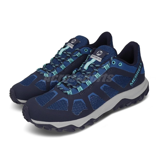 Merrell 戶外鞋 Fiery GTX 藍 灰 Gore-Tex 防水 男鞋 郊山健走 【ACS】 ML066259