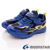 【MOONSTAR】日本月星競速童鞋-閃電競速運動款-SSJ7465藍(19cm-24.5cm)