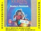 二手書博民逛書店JOURNEYS罕見COMMON CORE Readers Notebook3 Volume1、2(2本合售)未開