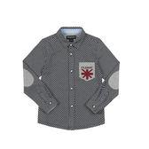 男童針織格紋襯衫 04D02M58