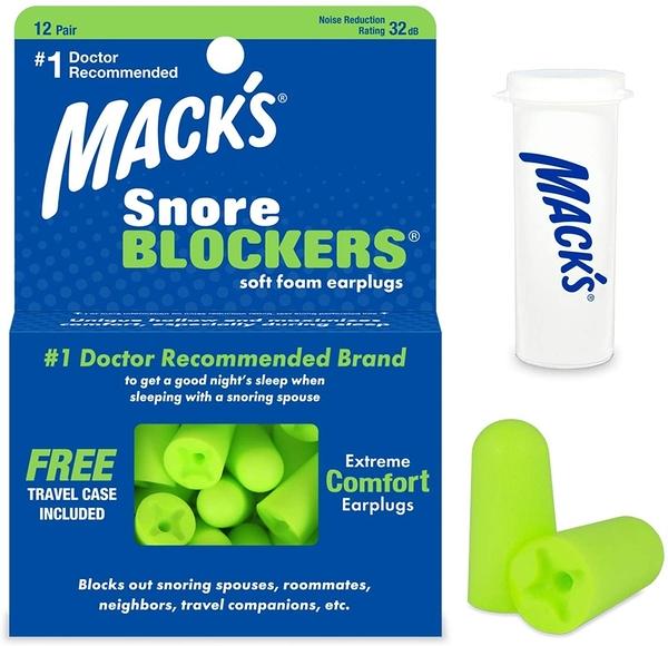[2美國直購] Mack s 螢光綠色超軟耳塞Snore Blockers Soft Foam Earplugs - 12 對