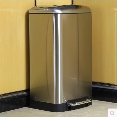 環保分類不銹鋼垃圾桶腳踏家雙桶 【30L單桶麵包蓋款】