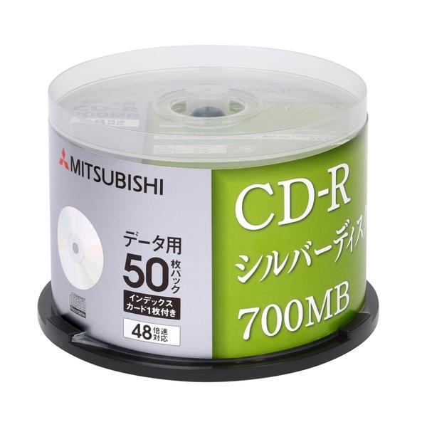 三菱 MITSUBISHI 日本限定版 空白光碟片 CD-R 700MB 48X 空白燒錄片(50布丁桶X1) 50PCS