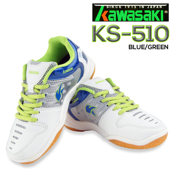 Kawasaki KS-510 專業輕量吸震羽球鞋(白/藍)