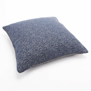 亞倫緹花抱枕 45x45CM 格紋藍