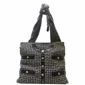 CHANEL 香奈兒 黑白色編織羊皮肩背包 Girl Bag【二手名牌BRAND OFF】
