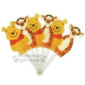 〔小禮堂〕迪士尼 小熊維尼 造型塑膠折扇《站姿.跳跳虎》人型扇.手拿扇 8039700-10004