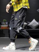 褲子男韓版流夏季薄款束腳休閒運動褲寬鬆大碼日系牌工裝褲嗯 卡卡西