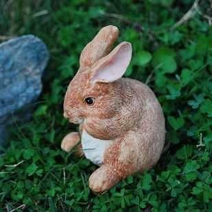 真小兔花園擺飾 別墅園藝飾品 花園用品 3隻