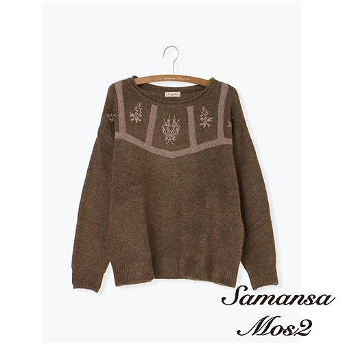 「Hot item」蕾絲花朵刺繡針織上衣 (提醒-SM2僅單一尺寸) - Sm2