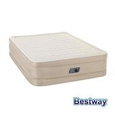 【南紡購物中心】Bestway。雙人加大自動快充充氣床-米白 69051E
