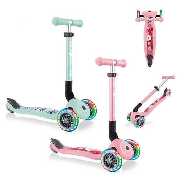 GLOBBER 哥輪步 GO•UP 4合1運動版/滑板車/手推車/滑步車(LED發光前輪) 【六甲媽咪】