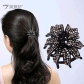 髮抓夾頭飾品卡子黑中號女瀏海頂夾子復古韓國成人髮卡一字夾髮夾