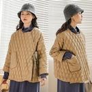 斜襟設計高端白鴨絨羽絨服短版輕便復古文藝外套/設計家 Y91121
