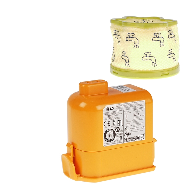 【LG耗材】A9K電池+前製濾網 優惠組合