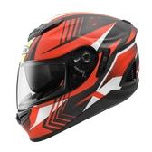 【東門城】ZEUS ZS1600 AK6 (消光碳纖/紅) 全罩式安全帽
