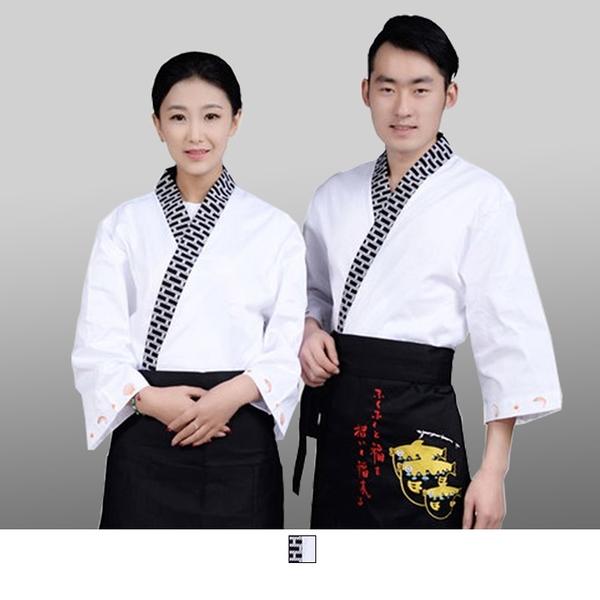 晶輝專業團體制服*CH115*日式溫泉飯店女竹子印花日本料理廚師服餐廳服務員工作服壽司
