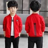 男童外套 男童秋裝外套新款兒童春秋款夾克中大童裝男孩洋氣棒球服潮衣