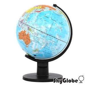SkyGlobe 10吋行政藍色海洋塑膠地球儀(中英文對照)(附燈)