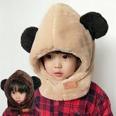 兒童帽子圍脖一體加厚圍巾護耳套OR1214『miss洛羽』