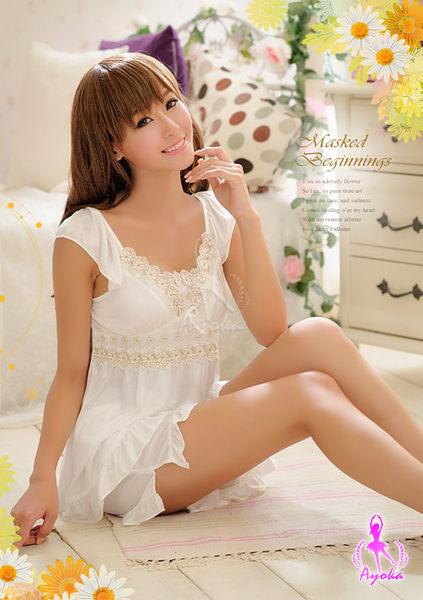 純淨天使!小蓋袖二件式睡襯衣 (OS shop)