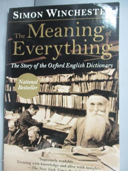 【書寶二手書T8/翻譯小說_LDV】The Meaning of Everything: The Story…_Winc