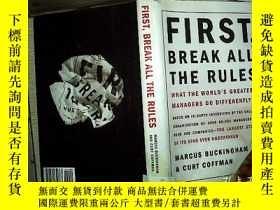 二手書博民逛書店First,罕見Break All the Rules:What