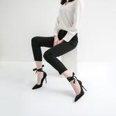 春季新款高跟鞋法式少女細跟尖頭性感淺口百搭黑色單鞋夏  夏季上新