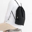 休閒束口袋  簡單素面風格帆布潮流後背包...